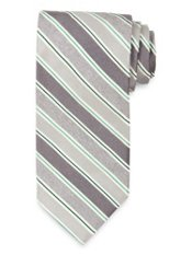Striped Woven Silk Tie