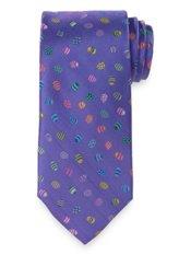Easter Eggs Motif Woven Silk Tie