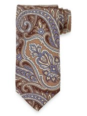 Paisley Printed Italian Silk Tie