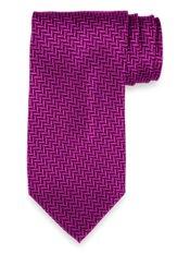 Herringbone Woven Silk Tie