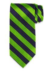 Blazer Stripe Woven Silk Tie