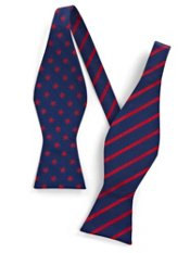 Stars & Stripes Woven Silk Self-tied Bow Tie
