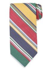 Herringbone Striped Woven Silk Tie