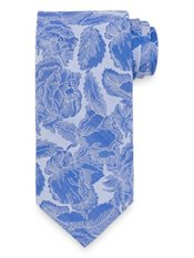 Textured Botanical Woven Silk Tie