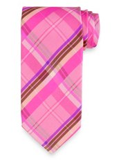 Plaid Printed Italian Silk Tie