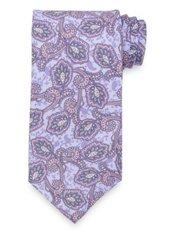 Lavender Floral Printed Italian Silk Tie