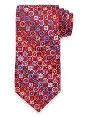 Mixed Medallion Woven Silk Tie