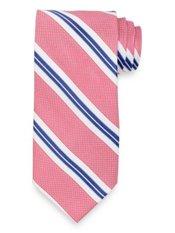 Textured Repp Stripe Woven Silk Tie