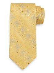 Circles Woven Handmade Italian 7-fold Silk Tie
