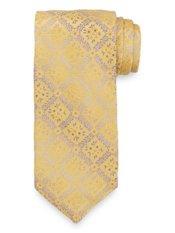 Floral Medallion Woven Italian Silk Tie