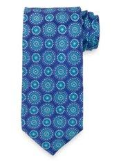 Medallion Woven Italian Silk Tie