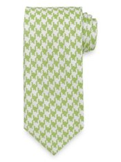 Houndstooth Woven Italian Silk & Cotton Tie