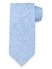 Lattice Pattern Woven Italian Tie
