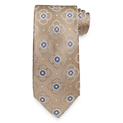Medallion Woven Silk Tie $73.00 AT vintagedancer.com
