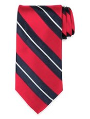 Satin Striped Woven Silk Tie