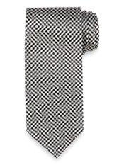 Mini Houndstooth Woven Silk Tie