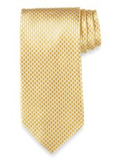 Mini Houndstooth Woven Silk Tie