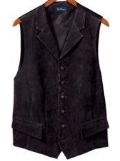 100% Suede Six-Button Vest