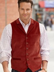 100% Cotton Notch Lapel Vest