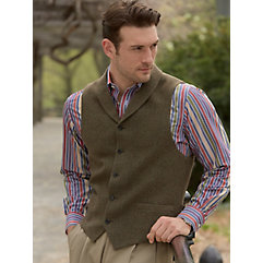VictorianMen8217sClothing 100 Wool Five-Button Shawl Collar Donegal Vest $95.00 AT vintagedancer.com