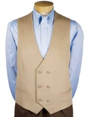Wool Blend Double-Breasted Vest