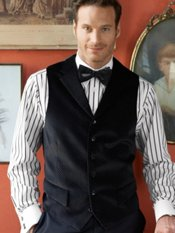 100% Cotton Velvet Dot Notch Lapel Vest