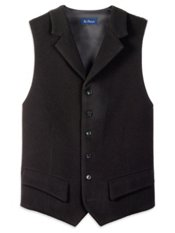 Wool Blend Notch Lapel Vest
