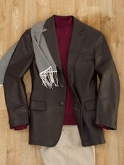 New Zealand Lambskin Two-Button Notch Lapel Jacket