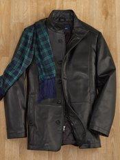 New Zealand Lambskin Stand Collar Jacket