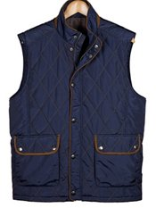 Quilted Nylon Snap Front Vest