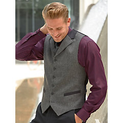 1910s Men's Edwardian Fashion and Clothing Guide 100 Wool Six-button Notch Lapel Vest $65.00 AT vintagedancer.com