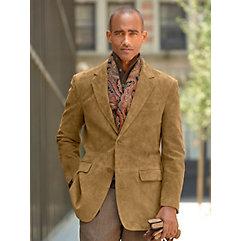 1950s Style Mens Suits 100 Suede Two Button Notch Lapel Blazer $179.00 AT vintagedancer.com