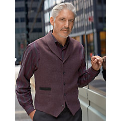 DressinGreatGatsbyClothesforMen 100 Wool Five-button Shawl Collar Vest $110.00 AT vintagedancer.com