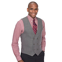 Men's Vintage Inspired Vests 100 Wool Double Breasted No Lapel Vest $32.00 AT vintagedancer.com