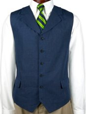 100% Linen Six-Button Vest