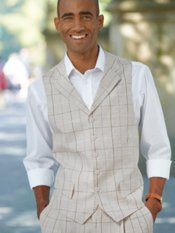mens linen vest and pants - Pi Pants