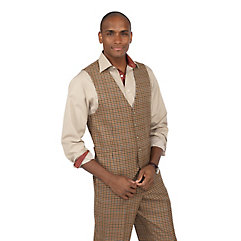 Pure Wool Flannel Five-Button Vest $100.00 AT vintagedancer.com