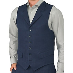 100 Linen Six-Button Notch Lapel Vest $65.00 AT vintagedancer.com