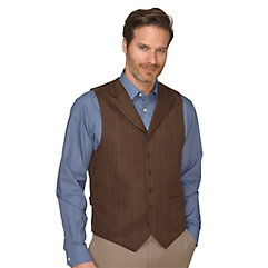 1900s Edwardian Men's Suits and Coats 100 Wool Six-Button Notch Lapel Herringbone Vest $60.00 AT vintagedancer.com