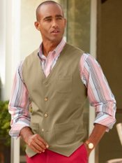 100% Cotton Twill Five-Button Vest