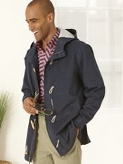 100% Cotton Toggle Closure Jacket