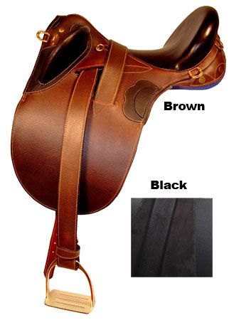 Kimberly Econ Outback Saddle w/o Horn Black 18in