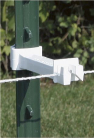 Zareba Wrap-around T-post Extender Insulator White