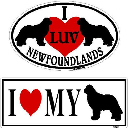 I Love My Newfoundland Sticker