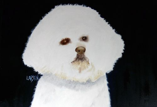 Dick Larsen Greeting Cards Bichon Frise