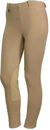 On Course Cotton Natural Pull On Breeches 36
