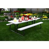 8 Ft Commercial Foldable Picnic Table