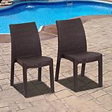 Atlantic Corfu 4Pc Stacking Dining Chairs
