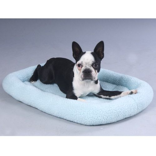 Fleece Crate Bed Baby Blue 21.75 X 12.75