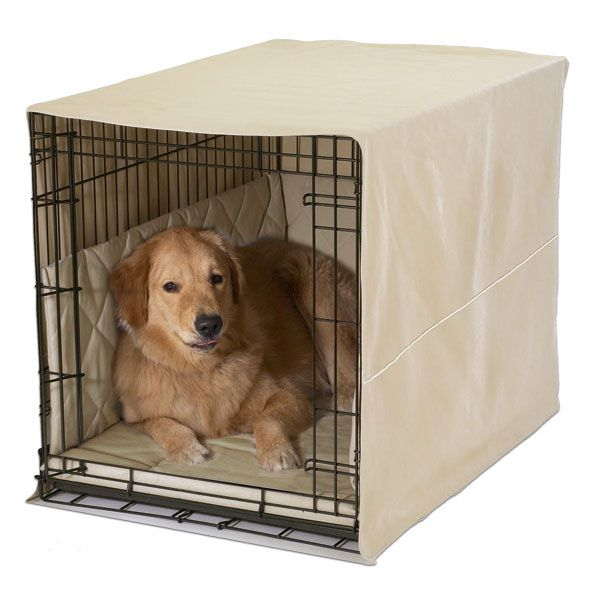Crate Training Puppies on Classic Cratewear 3 Piece Bed Set 24 Inch Khaki